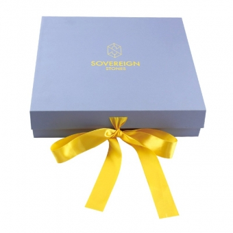 Blue magnetic gift boxes with ribbon wholesale