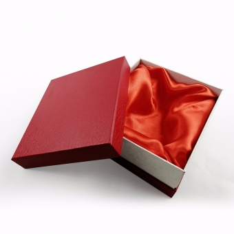 custom plain red texture sturdy gift boxes with lids and satin