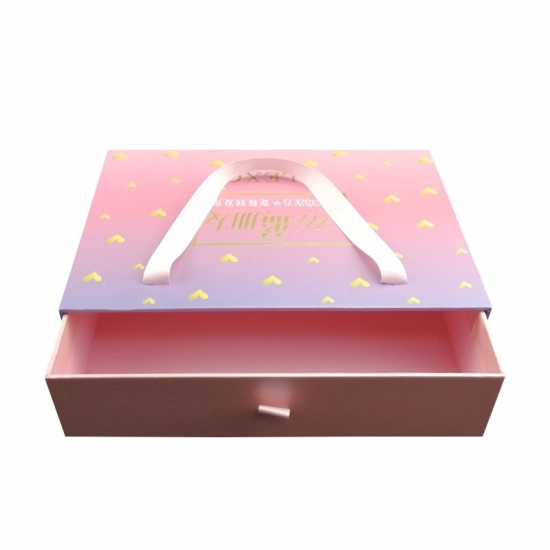 Large wedding jewelry dress gift drawer paper box packaging
