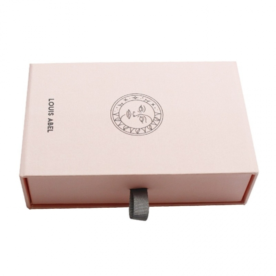 pink jewelry sliding box with drawers