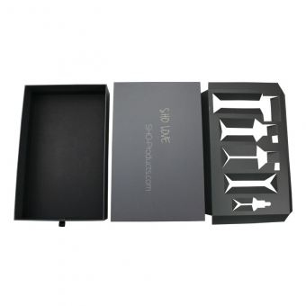 custom sliding gift drawer box packaging with ribbon puller