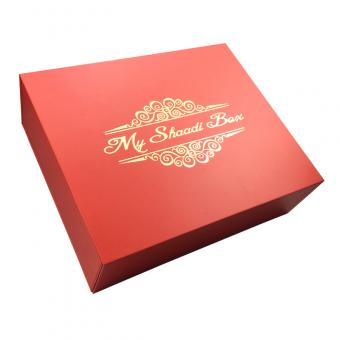 Foldable Red Gift Box With Ribbon