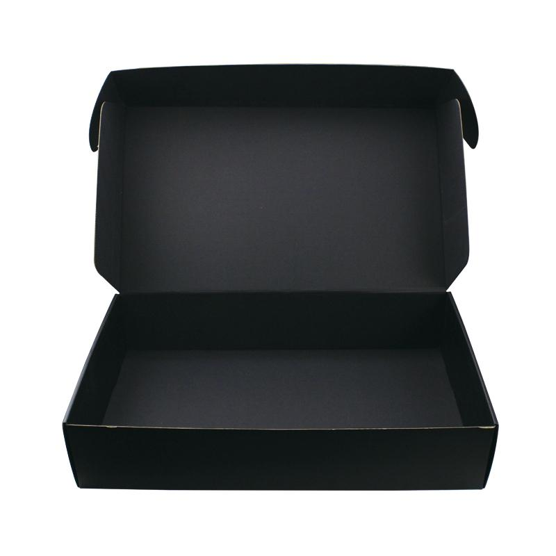 Custom logo printing black corrugated packaging postal boxes