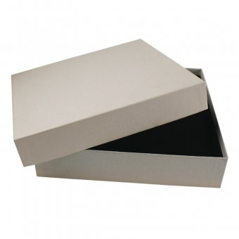 Custom simple and plain regular white gift box with lid