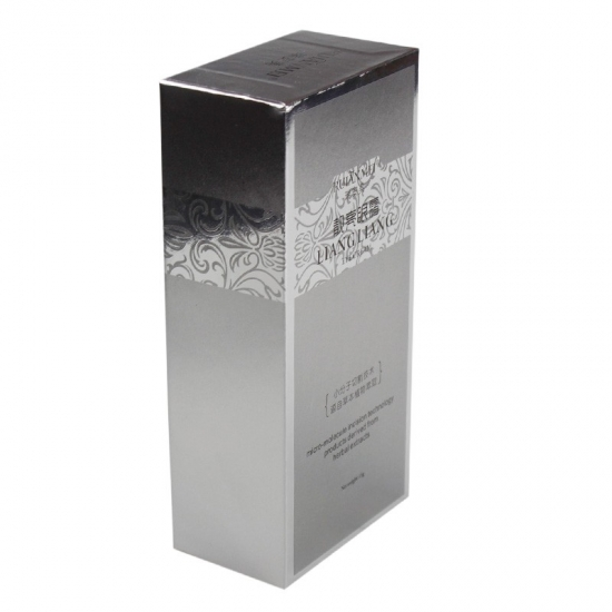 silver colored gift rectangle boxes with lids
