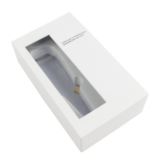 Rectangle gift box with lids and white padding